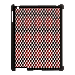 Squares Red Background Apple Ipad 3/4 Case (black) by Simbadda