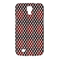Squares Red Background Samsung Galaxy Mega 6 3  I9200 Hardshell Case by Simbadda