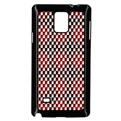 Squares Red Background Samsung Galaxy Note 4 Case (black) by Simbadda