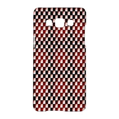 Squares Red Background Samsung Galaxy A5 Hardshell Case  by Simbadda