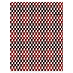 Squares Red Background Drawstring Bag (large) by Simbadda