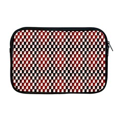 Squares Red Background Apple Macbook Pro 17  Zipper Case