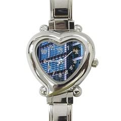 Modern Business Architecture Heart Italian Charm Watch by Simbadda