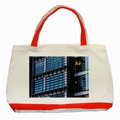 Modern Business Architecture Classic Tote Bag (red) by Simbadda
