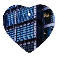 Modern Business Architecture Heart Ornament (two Sides) by Simbadda