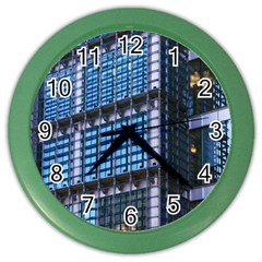 Modern Business Architecture Color Wall Clocks by Simbadda