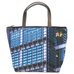 Modern Business Architecture Bucket Bags by Simbadda