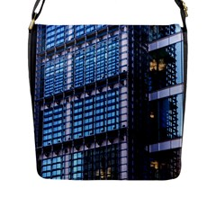 Modern Business Architecture Flap Messenger Bag (l)  by Simbadda