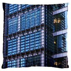 Modern Business Architecture Large Flano Cushion Case (one Side) by Simbadda