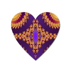 Something Different Fractal In Orange And Blue Heart Magnet by Simbadda