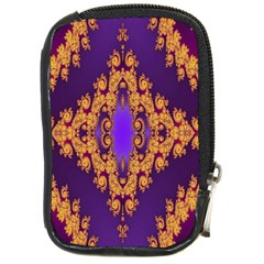 Something Different Fractal In Orange And Blue Compact Camera Cases by Simbadda