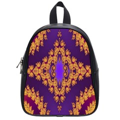 Something Different Fractal In Orange And Blue School Bags (small)  by Simbadda