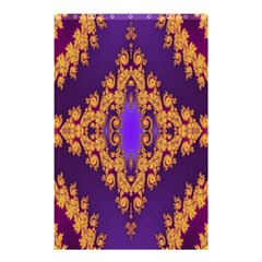 Something Different Fractal In Orange And Blue Shower Curtain 48  X 72  (small)  by Simbadda