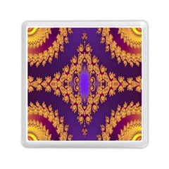 Something Different Fractal In Orange And Blue Memory Card Reader (square)  by Simbadda