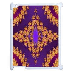 Something Different Fractal In Orange And Blue Apple Ipad 2 Case (white) by Simbadda