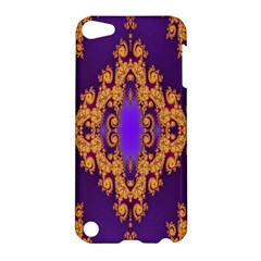 Something Different Fractal In Orange And Blue Apple Ipod Touch 5 Hardshell Case by Simbadda