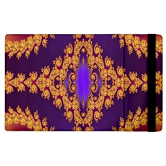 Something Different Fractal In Orange And Blue Apple Ipad 3/4 Flip Case by Simbadda