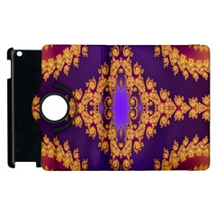 Something Different Fractal In Orange And Blue Apple Ipad 3/4 Flip 360 Case by Simbadda