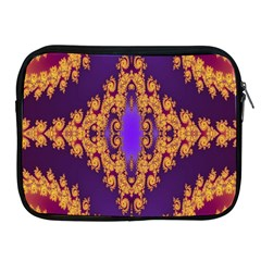 Something Different Fractal In Orange And Blue Apple Ipad 2/3/4 Zipper Cases by Simbadda