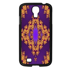 Something Different Fractal In Orange And Blue Samsung Galaxy S4 I9500/ I9505 Case (black) by Simbadda
