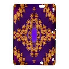 Something Different Fractal In Orange And Blue Kindle Fire Hdx 8 9  Hardshell Case by Simbadda