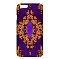 Something Different Fractal In Orange And Blue Apple Iphone 6 Plus/6s Plus Hardshell Case by Simbadda