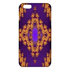 Something Different Fractal In Orange And Blue Iphone 6 Plus/6s Plus Tpu Case by Simbadda