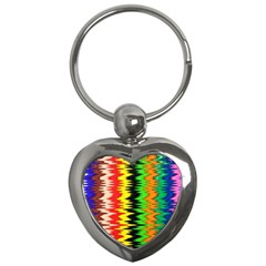 Colorful Liquid Zigzag Stripes Background Wallpaper Key Chains (heart)  by Simbadda