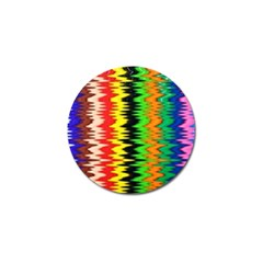 Colorful Liquid Zigzag Stripes Background Wallpaper Golf Ball Marker (4 Pack) by Simbadda