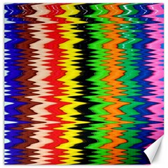 Colorful Liquid Zigzag Stripes Background Wallpaper Canvas 12  X 12   by Simbadda