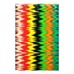 Colorful Liquid Zigzag Stripes Background Wallpaper Shower Curtain 48  X 72  (small)  by Simbadda