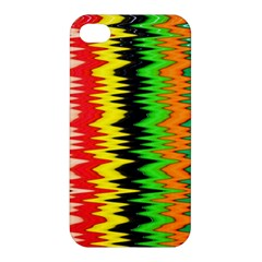 Colorful Liquid Zigzag Stripes Background Wallpaper Apple Iphone 4/4s Hardshell Case by Simbadda