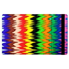 Colorful Liquid Zigzag Stripes Background Wallpaper Apple Ipad 2 Flip Case by Simbadda