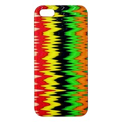 Colorful Liquid Zigzag Stripes Background Wallpaper Apple Iphone 5 Premium Hardshell Case by Simbadda