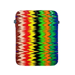 Colorful Liquid Zigzag Stripes Background Wallpaper Apple Ipad 2/3/4 Protective Soft Cases by Simbadda
