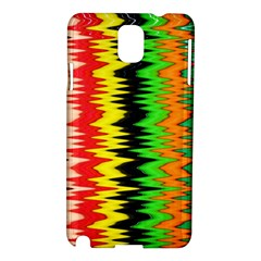 Colorful Liquid Zigzag Stripes Background Wallpaper Samsung Galaxy Note 3 N9005 Hardshell Case by Simbadda