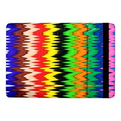 Colorful Liquid Zigzag Stripes Background Wallpaper Samsung Galaxy Tab Pro 10 1  Flip Case by Simbadda
