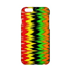 Colorful Liquid Zigzag Stripes Background Wallpaper Apple Iphone 6/6s Hardshell Case by Simbadda