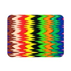 Colorful Liquid Zigzag Stripes Background Wallpaper Double Sided Flano Blanket (mini)  by Simbadda