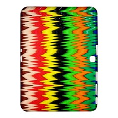 Colorful Liquid Zigzag Stripes Background Wallpaper Samsung Galaxy Tab 4 (10 1 ) Hardshell Case