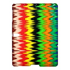 Colorful Liquid Zigzag Stripes Background Wallpaper Samsung Galaxy Tab S (10 5 ) Hardshell Case  by Simbadda