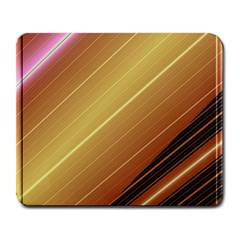 Diagonal Color Fractal Stripes In 3d Glass Frame Large Mousepads by Simbadda