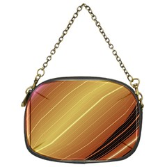Diagonal Color Fractal Stripes In 3d Glass Frame Chain Purses (one Side)