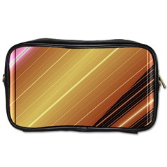 Diagonal Color Fractal Stripes In 3d Glass Frame Toiletries Bags by Simbadda