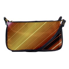 Diagonal Color Fractal Stripes In 3d Glass Frame Shoulder Clutch Bags by Simbadda