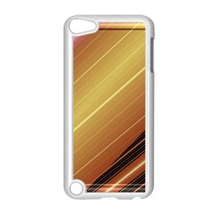 Diagonal Color Fractal Stripes In 3d Glass Frame Apple Ipod Touch 5 Case (white) by Simbadda