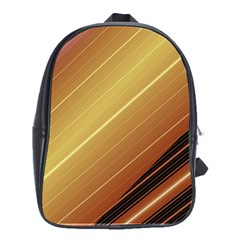 Diagonal Color Fractal Stripes In 3d Glass Frame School Bags (xl)  by Simbadda