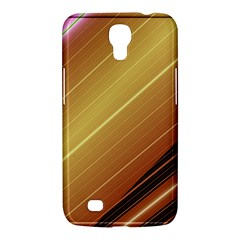 Diagonal Color Fractal Stripes In 3d Glass Frame Samsung Galaxy Mega 6 3  I9200 Hardshell Case by Simbadda