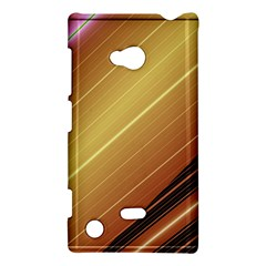 Diagonal Color Fractal Stripes In 3d Glass Frame Nokia Lumia 720 by Simbadda