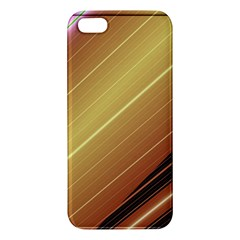 Diagonal Color Fractal Stripes In 3d Glass Frame Iphone 5s/ Se Premium Hardshell Case by Simbadda
